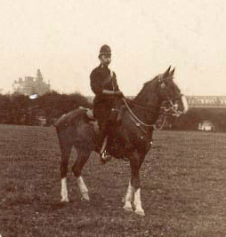 PC Thomas William Henley (appointed 1896), at Lower Penwortham in 1912.