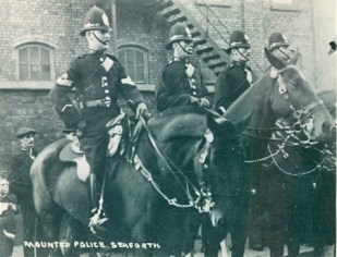 Sgt Clinch, PC Alan Gissing, PC 733 Wilf Savage - Seaforth Mounted Section.
