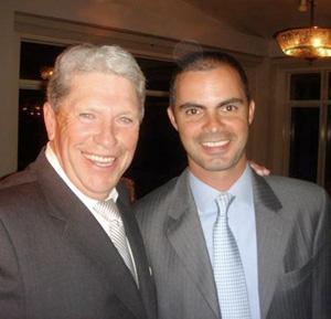 Hunter Harrison with Rodrigo Pessoa in 2009.
