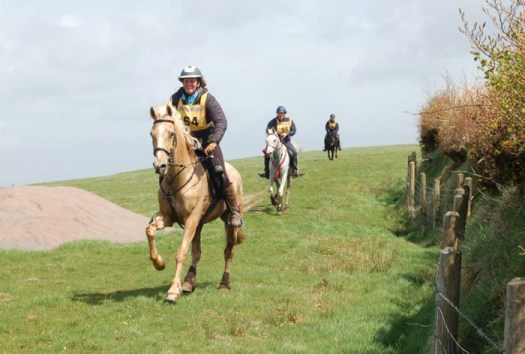 Kerri Costello and Step into Spring won bronze in the 80km (40 x 40) Exmoor Experience.