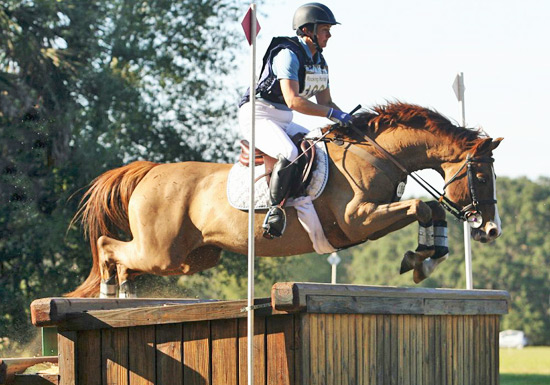 Helen Donnell and Stattock in full flight.