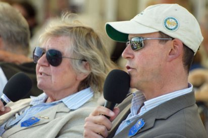 Dressage Commentators Sue Stewart and Nick Burton