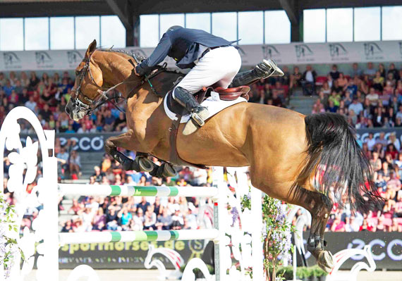 Roger Yves Bost and Castle Forbes Myrtille Paulois race to the finish line to win the individual European Championships title.