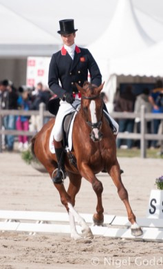 William Fox-Pitt and Chilli Morning, second place after the dressage.