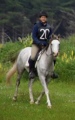 Janina Brenner from Germany riding Aurora Raffeah for Aurora Stud, in the novice 40km.