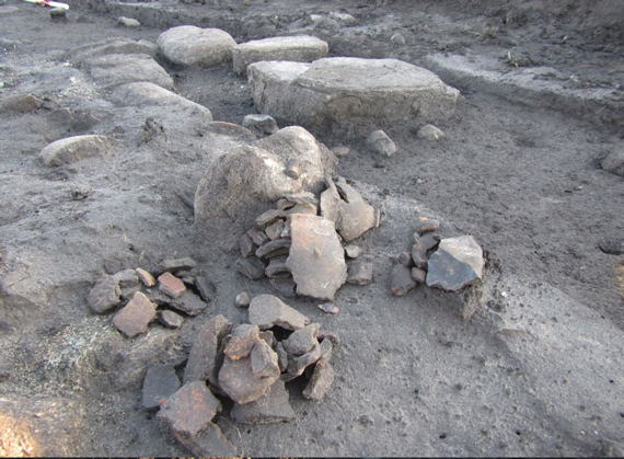 Pottery was recovered from the site, along with animal remains. Photo: Nordjyllands Historical Museum