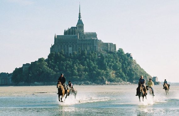 Endurance training at the World Equestrian Games of 2014 in Normandy, France.