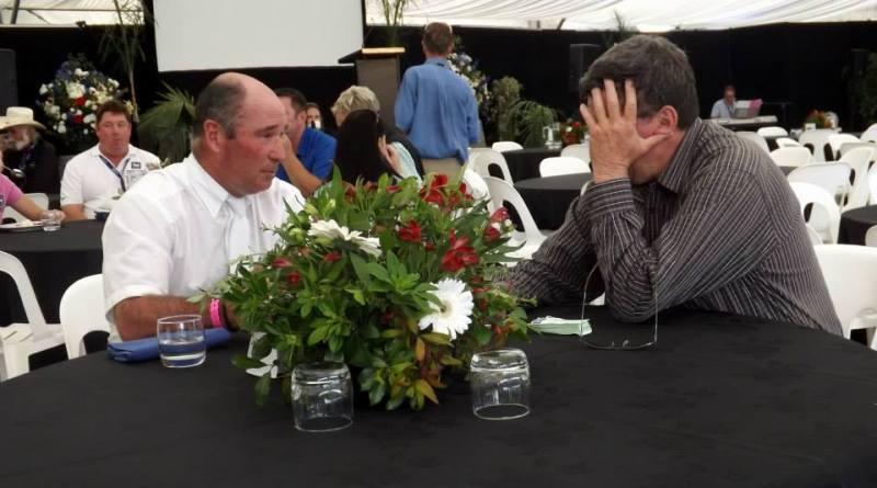 World Showjumping Champion Philippe Le Jeune and HoY organiser Kevin Hansen.