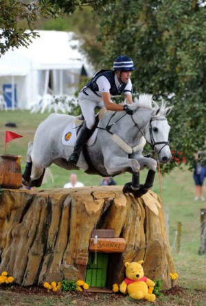 CIC3* leader Clarke Johnstone and Balmoral Sensation through the Hundred Acre Woods.
