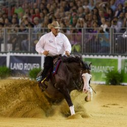 Shawn Flarida rode Spooks Gotta Whiz to win individual Reining gold. © Dirk Caremans/FEI