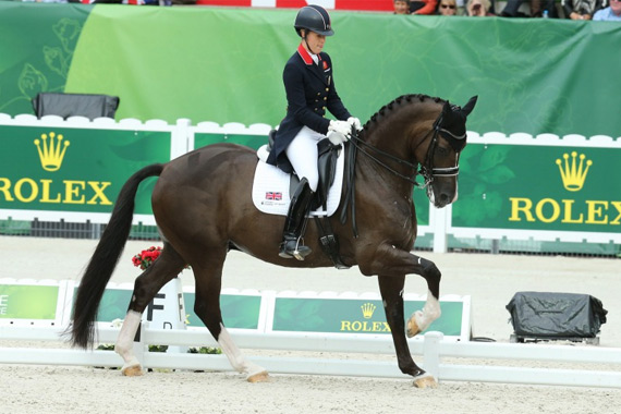 Charlotte Dujardin and Valegro on their way to Grand Prix Special Gold.