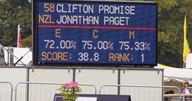 Back where he wants to be: Jonathan Paget and Clifton at the head of the Burghley field, so far.