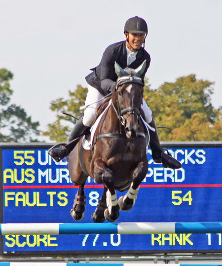 Murray Lamperd and OTTB Under The Clocks at Burghley in 2014. The former Australian racehorse is competing in the CIC3* this year with Tiana Coudray.