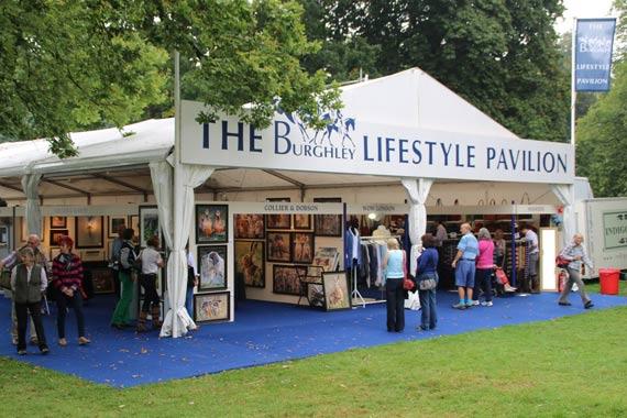 The Burghley Lifestyle Pavilion.