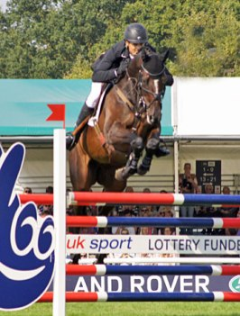 Jonathan Paget and Clifton Promise in action at Burghley this week. The pair finished second.