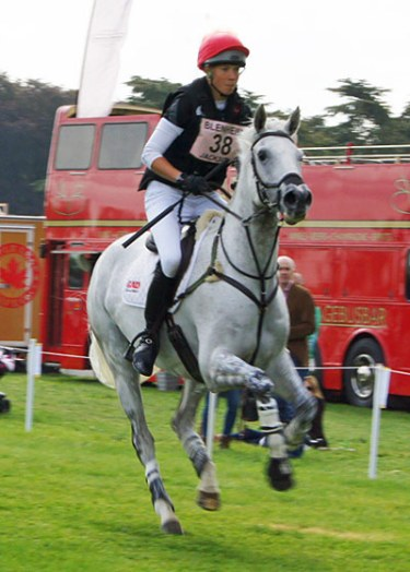 Lucy Jackson (NZL) and Bosun II moved up from 37th to 13th after the cross-country.