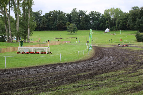 Rain caused issues with both the endurance and eventing courses at WEG 2014.
