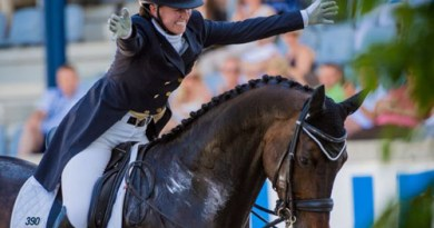 Adrienne Lyle and Wizard at Aachen in 2014