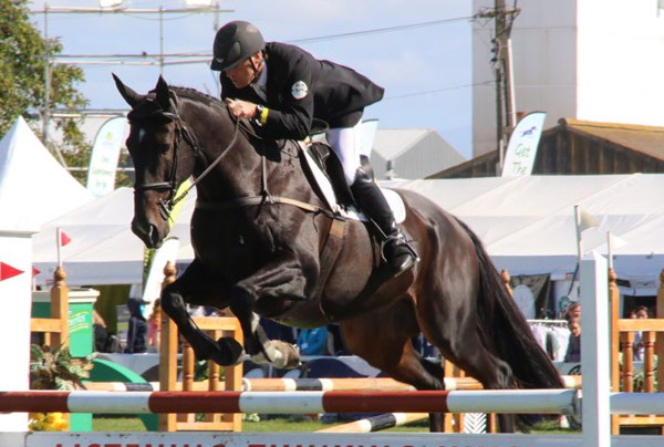 Horse of the Year show eventing 3* leaders, Matthew Grayling and NRM Lowenberg.