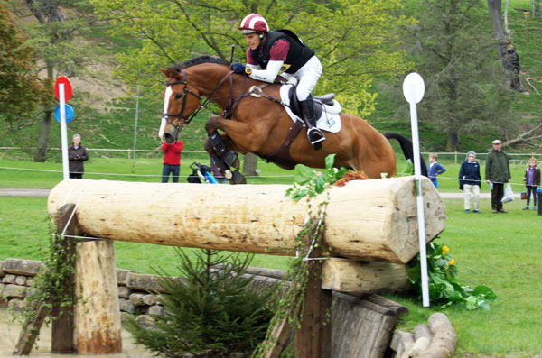 Blyth Tait and Xanthus III in one of the advanced classes.