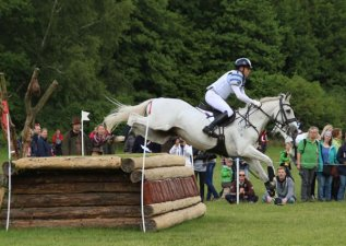 CCI4*: Andrew Hoy (AUS) and Algebra, who retired on the course.