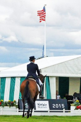 35th: Laine Ashker (USA) flying the flag on Anthony Patch.