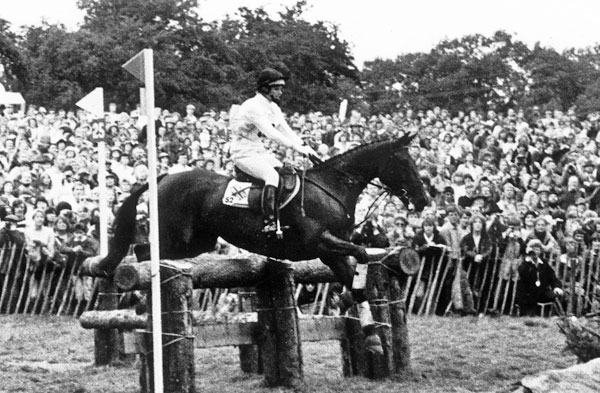 Ginny Elliot (neé Holgate) and Priceless at the 1985 European Championships at Burghley.