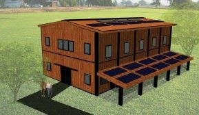 Rolda's horse barn plan.