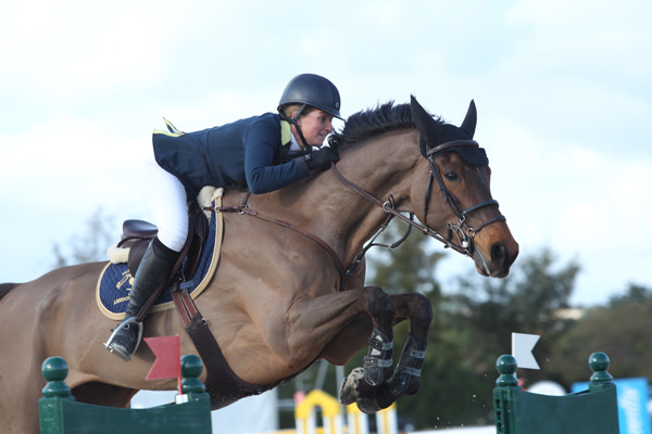 Nicole Pavitt and Hussah TM won the 1.45m competition of the 2* International Show Jumping Contest at the Vilamoura Atlantic Tour.
