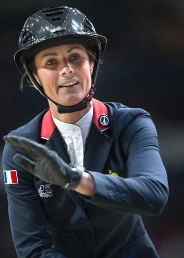 Penelope Leprevost after her win in the first round of the World Cup Final.