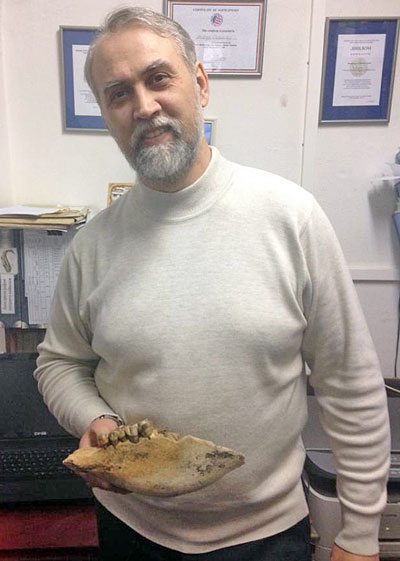 Tomsk State University paleontologist Andrey Shpanski. Photo: Tomsk State University