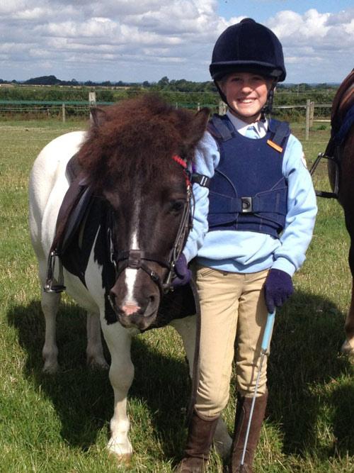 Bonnie Armitage and her pony, Lindsay.