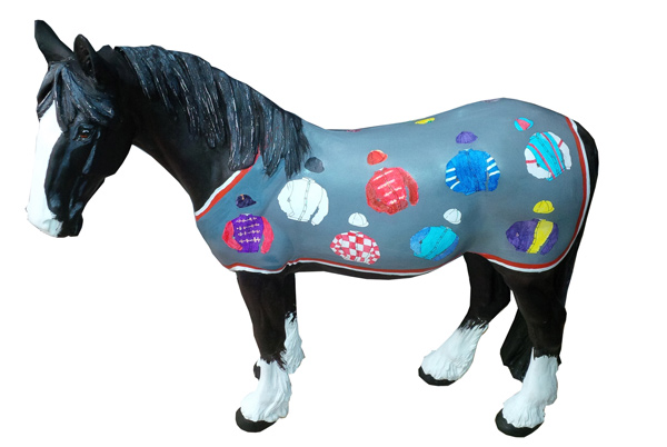 Dash's rug features racing colours by Jamie Osborne, generatingalmost £6000 insponsorship.