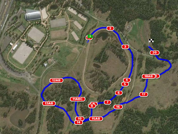 The Sydney International Horse Trials 1* course.