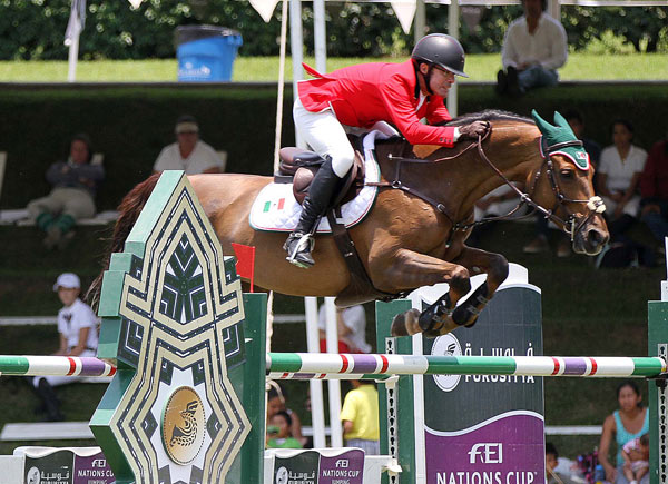 Antonio Chedraui and La Bamba clinched a historic victory for Mexico at the third leg of the Furusiyya FEI Nations Cup Jumping 2016 series on home ground in Coapexpan on Saturday.