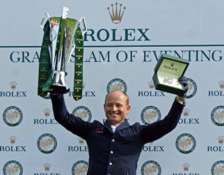 Rolex Grand Slam winner Michael Jung with the spoils.
