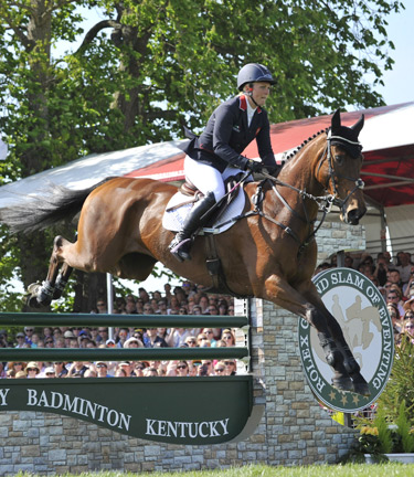 Britain's Gemma Tattersall rode Arctic Soul into third place.