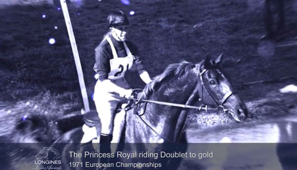 Princess Anne and Doublet at the FEI European Eventing Championship in 1971 in Burghley, where they became the first royal combination to take home a European gold medal.