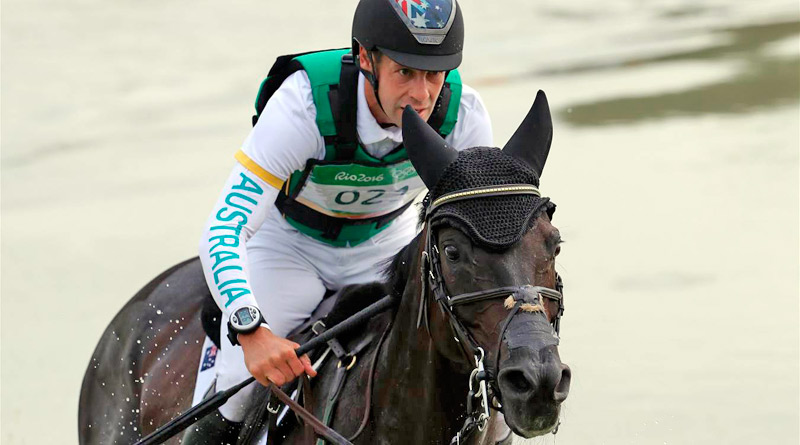 Australia's Chris Burton and Santano II on the Rio 2016 cross-country.