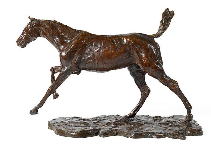 Edgar DegasCheval au galop sur le pied droit is 31.8cm tall and 46.4cm long.