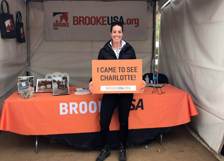 Brooke USA Global Ambassador and Olympic dressage gold medalist Charlotte Dujardin helped raise more than $10,000 at a dressage clinic last month.