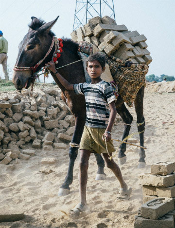 Children as young as five are also part of the brick kiln industry.