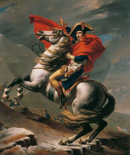 Napoleon Crossing the Alps painted by Jacques-Louis David. The horse in the painting is believed to be Marengo. Photo: Jacques-Louis David (Public domain), via Wikimedia Commons