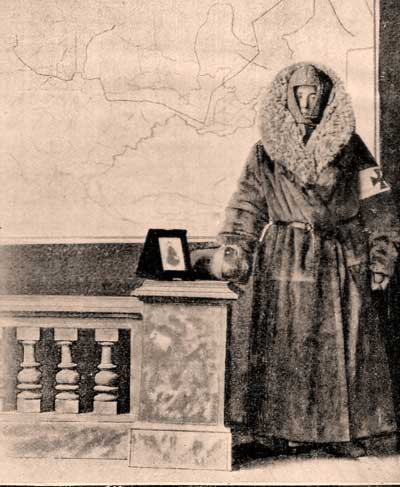 Kate Marsden in her Siberian winter coat.
