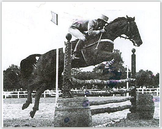 Quolibet and Jean Luc Cornille during the show jumping at Punchestown in 1970.