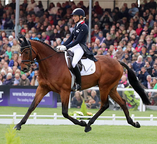 Ingrid Klimke and Horseware Hale Bob are in second place after the dressage.