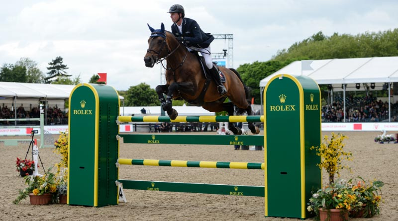 British combination Ben Maher and Tic Tac, pictured winning the CSI5* Bahrain Pearl Stakes at Windsor in 2017.