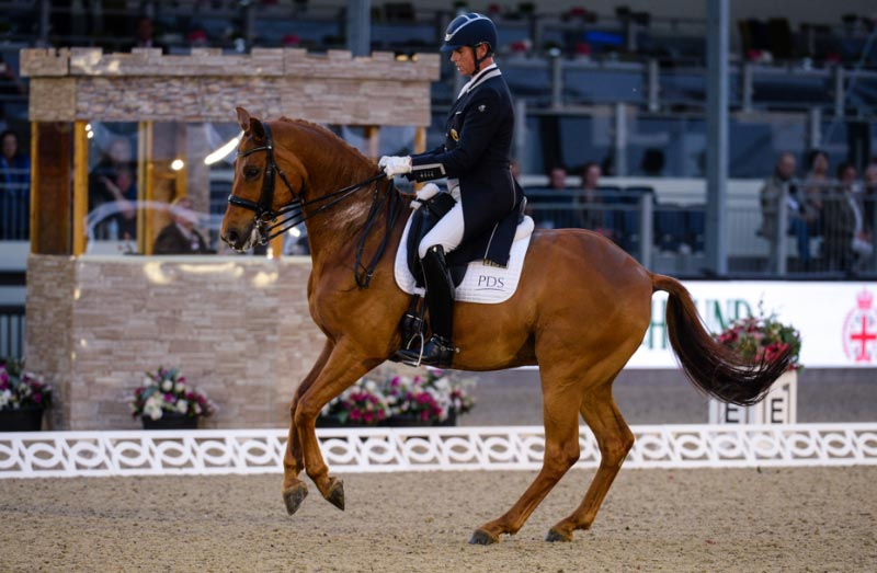 Carl Hester and Barolo won the 4* dressage at Windsor.