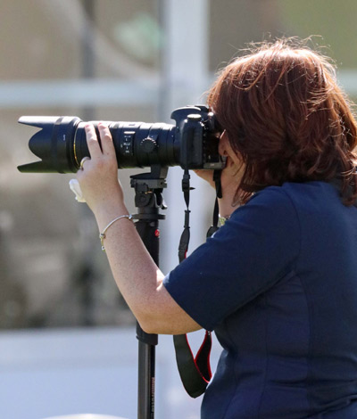 Jacqueline Thedens, a newcomer to the Mike Bain Photography team, in action.