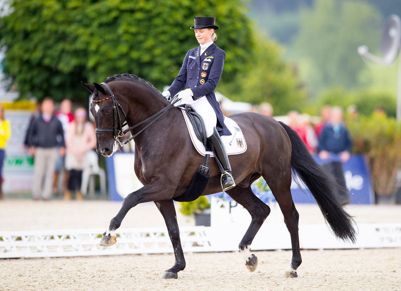 Sanneke Rothenberger and Deveraux at the European Dressage Championships last year.